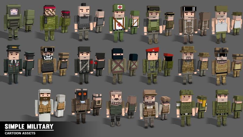 Character - Simple Military - Cartoon Assets - Synty