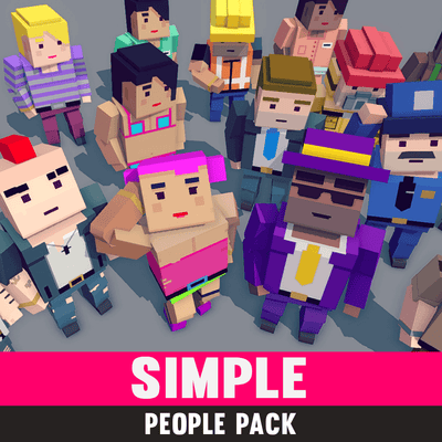 Character - Simple People - Cartoon Assets - Synty