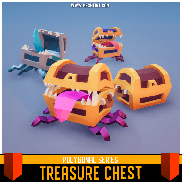Character - Treasure Chest - Polygonal Series - Meshtint Studio