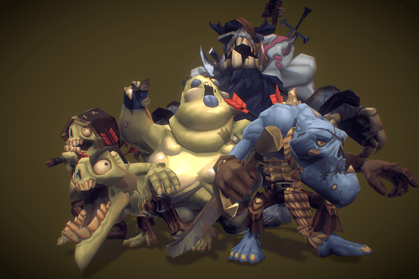 Character - Zombie Crew Bundle - Low Poly Hand Painted
