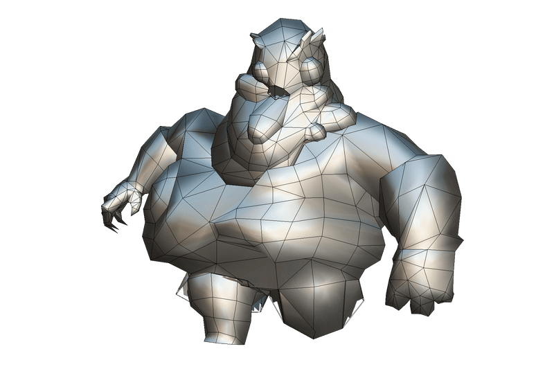 Character - Zombie Fatty - Low Poly Hand Painted