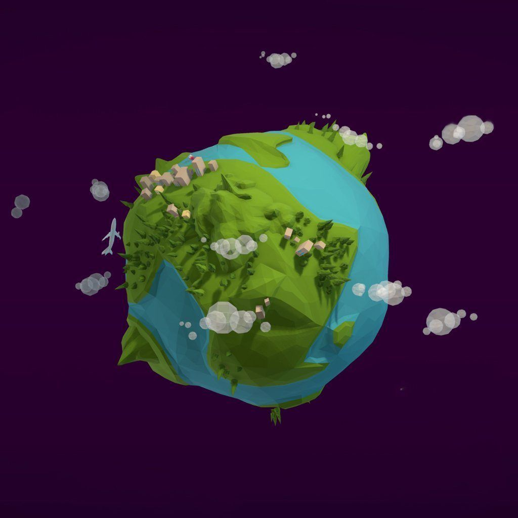 Environments - Cartoon Low Poly Earth Planet - Anton Moek