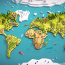 Environments - Cartoon Low Poly Earth World Map