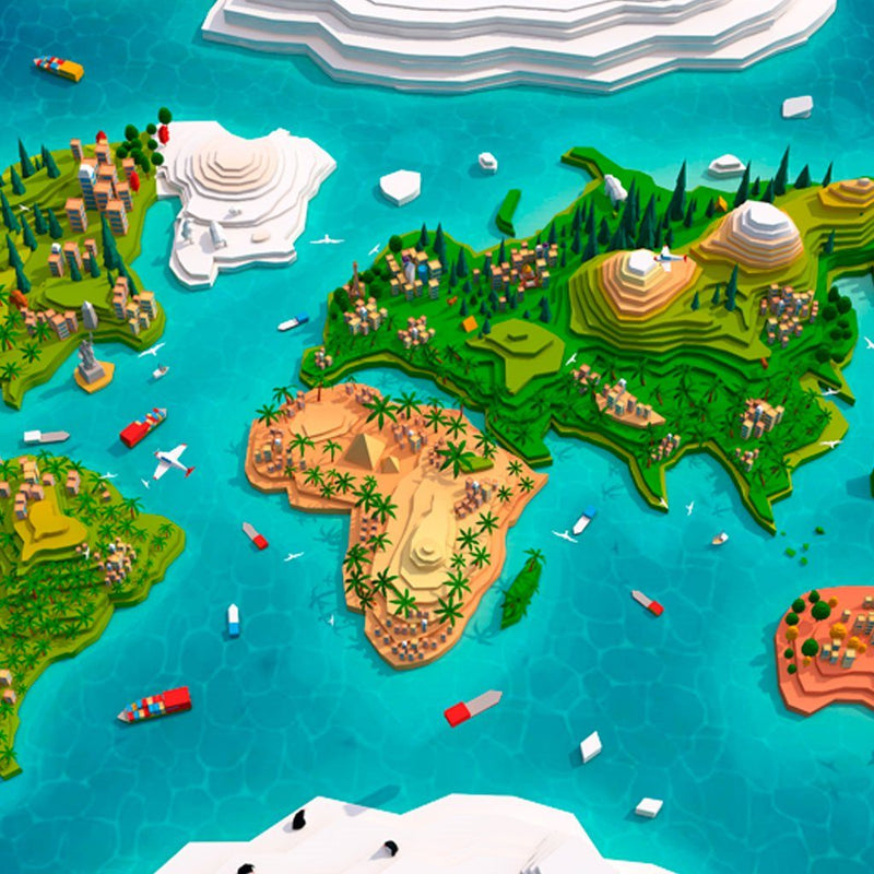 Environments - Cartoon Low Poly World Map 2.0 - Anton Moek