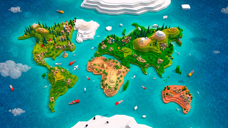 Environments   Cartoon Low Poly World Map 2.0   Anton Moek