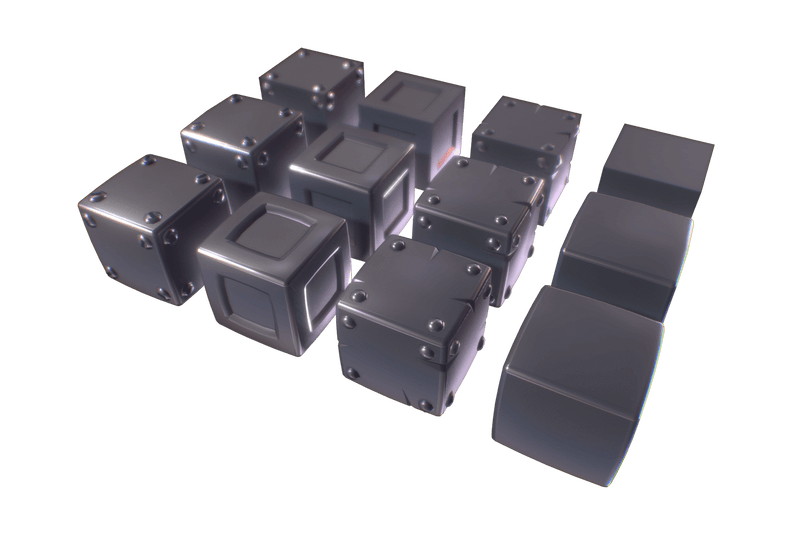 Cube World Metal Block - Proto Series