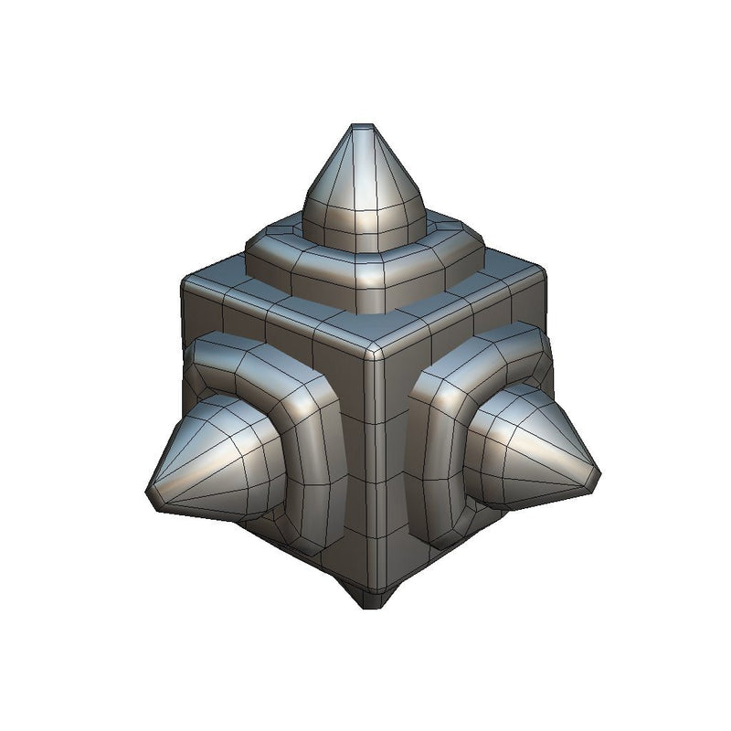 Environments - Cube World Metal Spike Block 1 - Proto Series - Free
