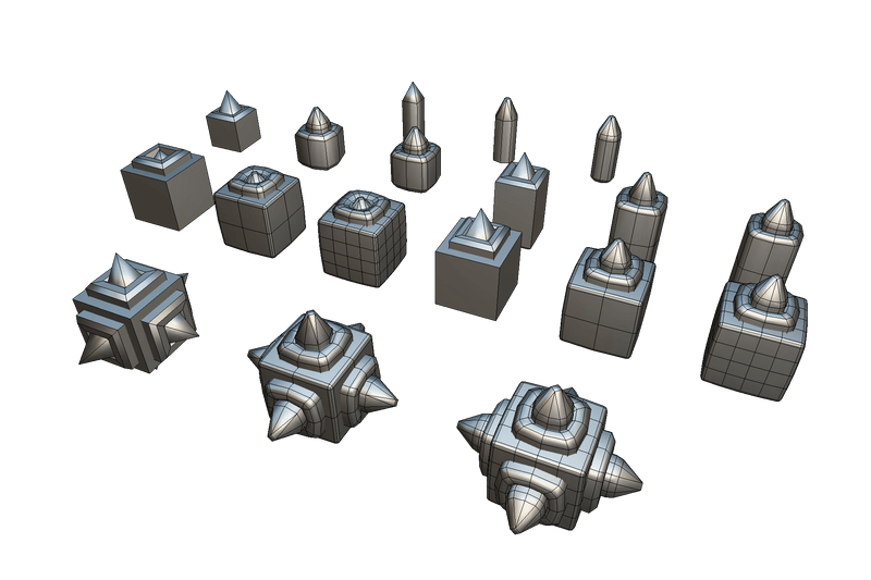 Environments - Cube World Metal Spike Block - Proto Series