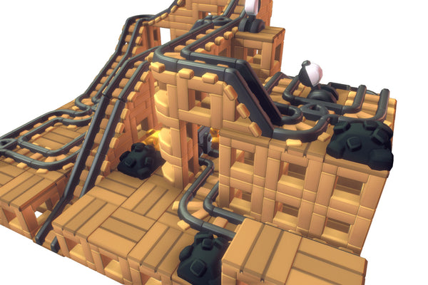 Environments - Cube World Mine Rail System  - Proto Series