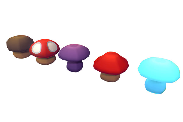 Environments - Cube World Mushrooms - Proto Series