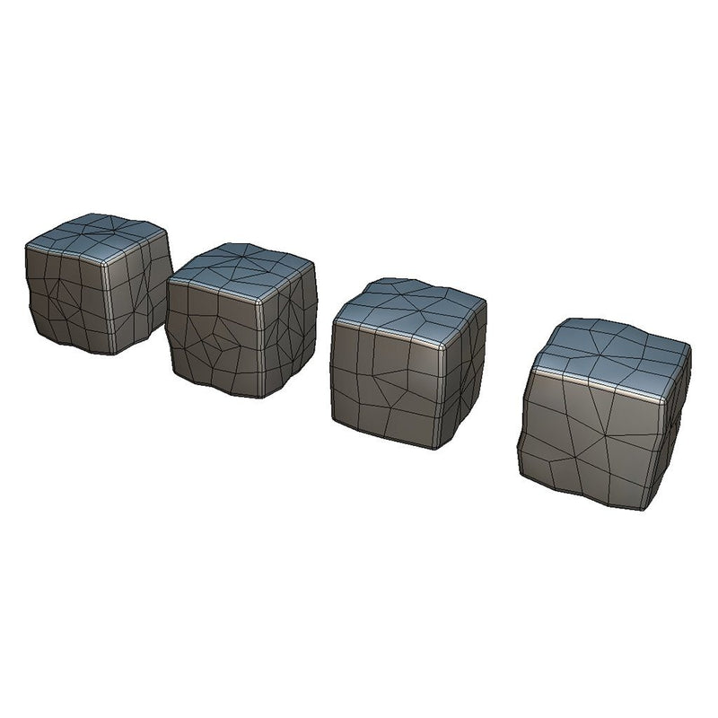 Environments - Cube World Rock Block 1 - Smashy Craft Series