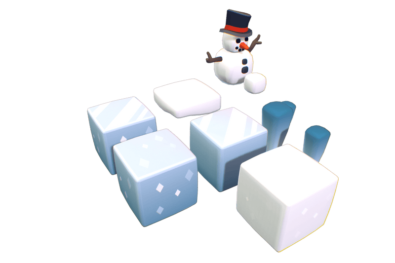 Cube World Snow & Ice Blocks - Proto Series