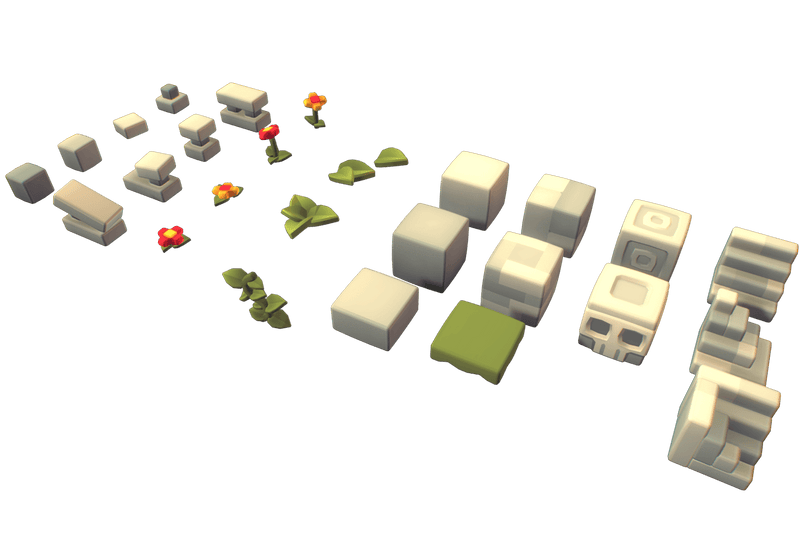 Environments - Cube World Stone Blocks - Proto Series