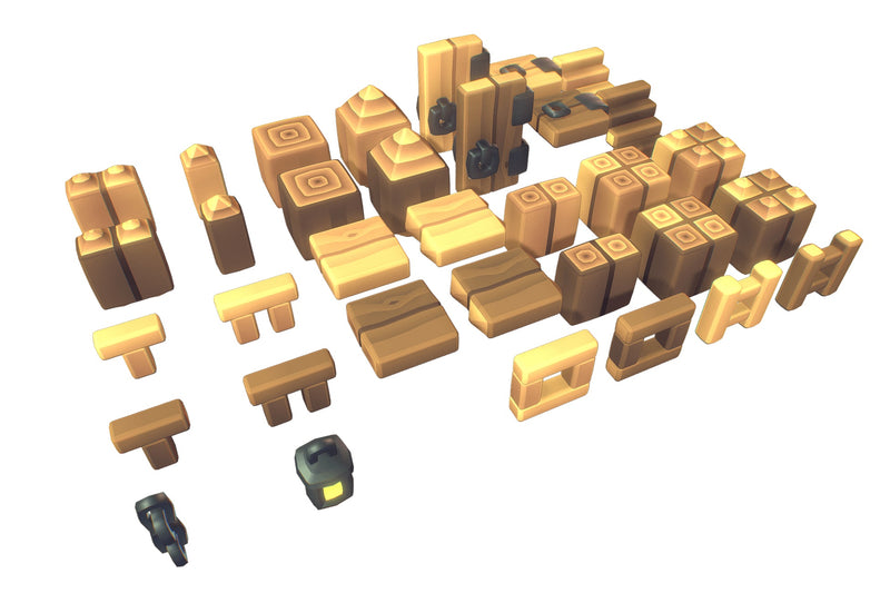Cube World Wood Block - Proto Series
