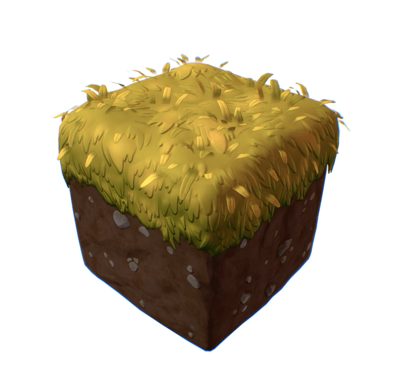 Environments - Dirt & Grass Block - PBR Handpainted Series