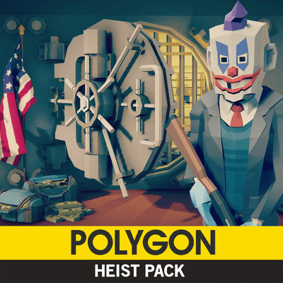 Environments - POLYGON - Heist Pack - Synty