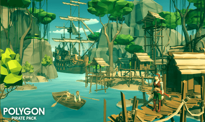 Environments - POLYGON - Pirate Pack - Synty