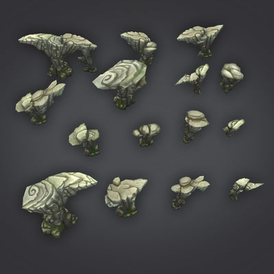 Environments - Rock Formation Pack 1 - 3dfancy