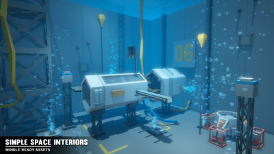 Environments - Simple Space Interiors - Cartoon Assets - Synty