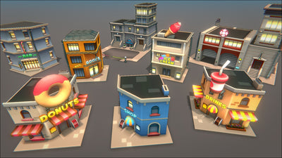 Environments - Toon City - SICS Games