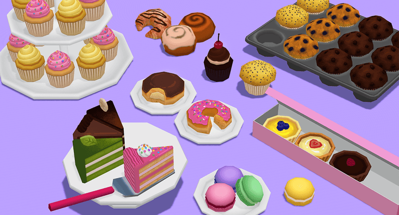 Props - Bakery Megapack - Low Poly Hand Painted