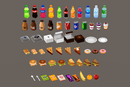 Props - Cafe Food - Low Poly Hand Painted