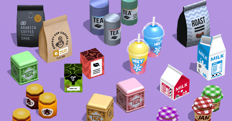 Props - Cafe Megapack - Low Poly Hand Painted