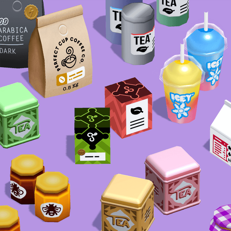 Props - Cafe Shop - Low Poly Hand Painted