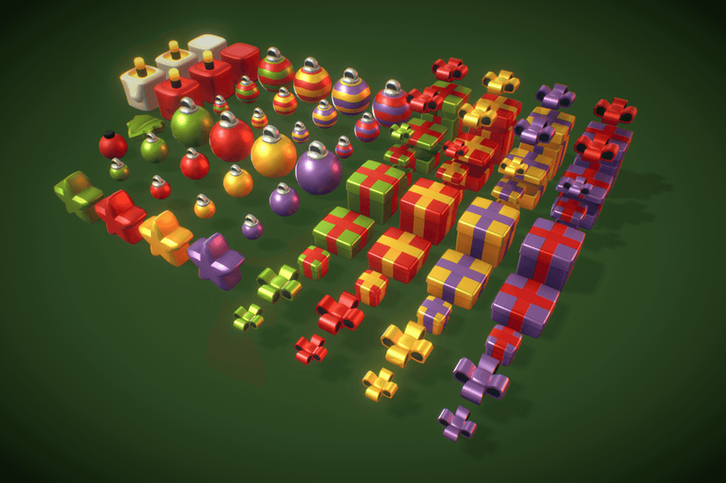 Props - Cube World Christmas Cube - Proto Series