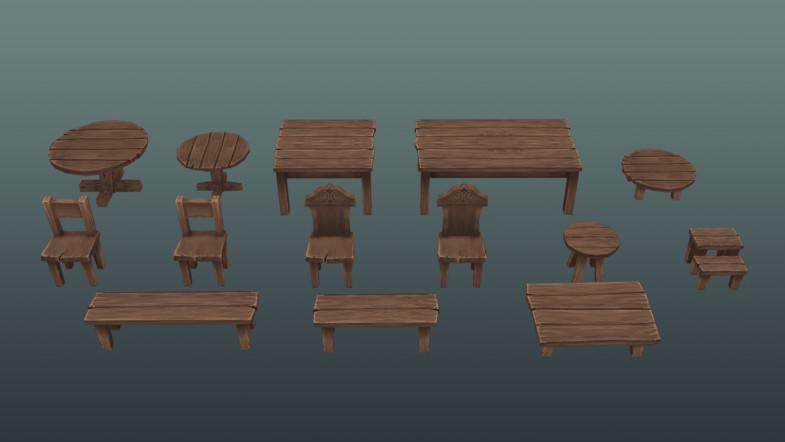 Props - Fantasy Furniture Pack 01 - Mafubash