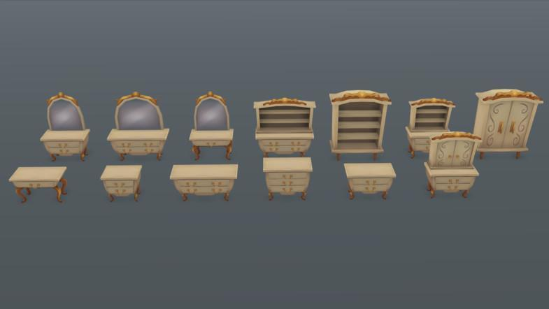 Props - Fantasy Furniture Pack 02 - Mafubash