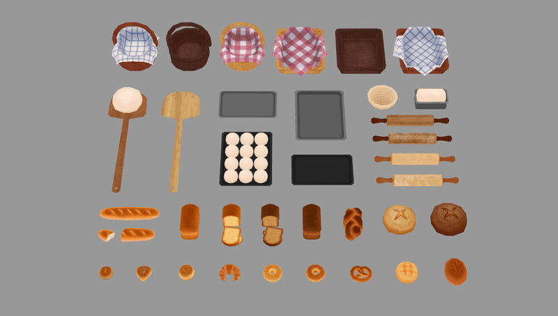 Props - Fresh Bread - Low Poly Hand Painted