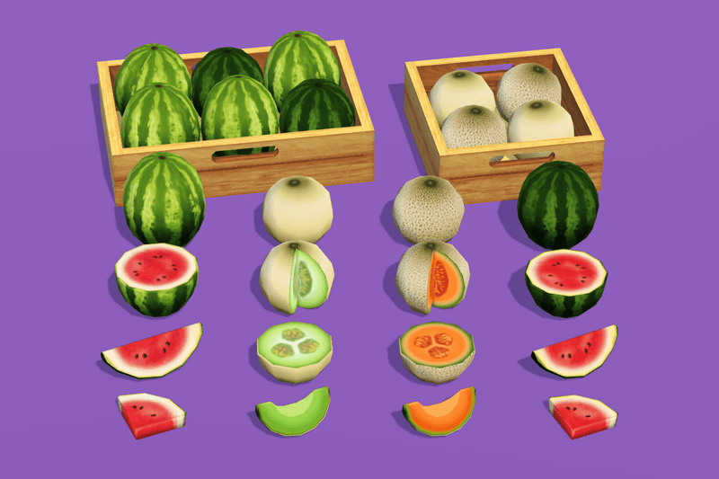 Props - Fruit Market - Low Poly Hand Painted