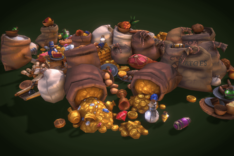 Loot N Fruit Set - Low Poly