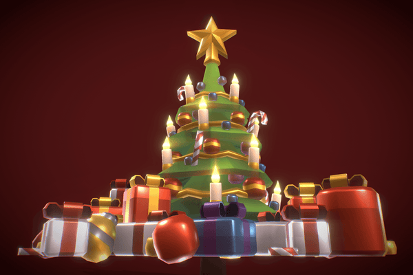 Props - Low Poly 3D Christmas Tree - Proto Series