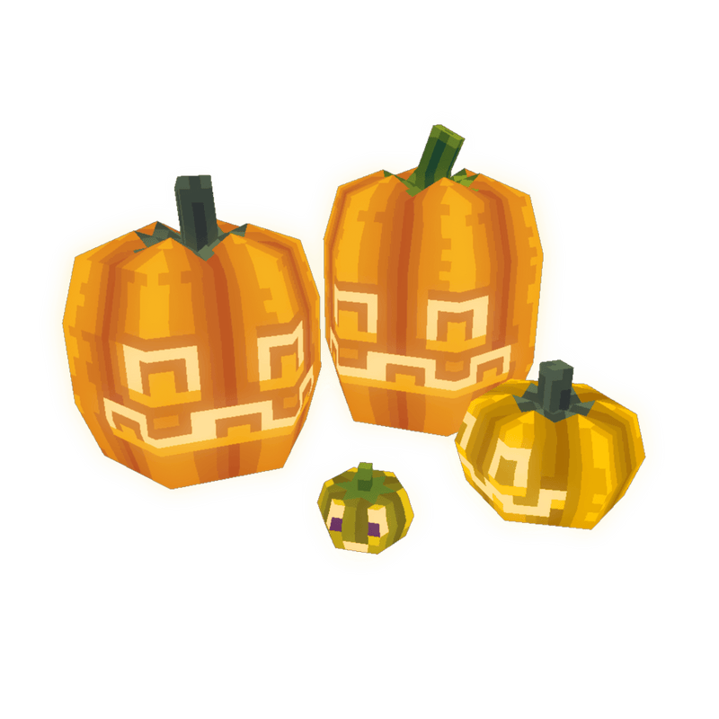 Props - Low Poly 3D Pixel Pumpkins