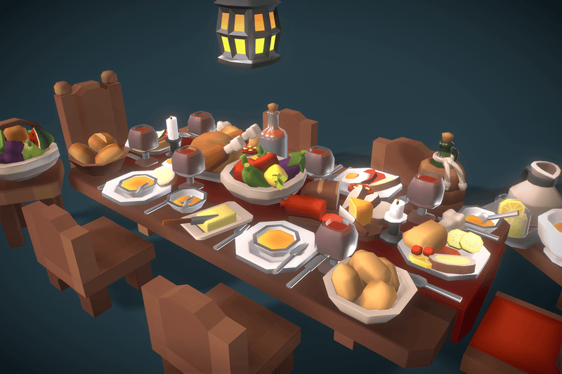 Props - Low Poly Food Set - Proto Series