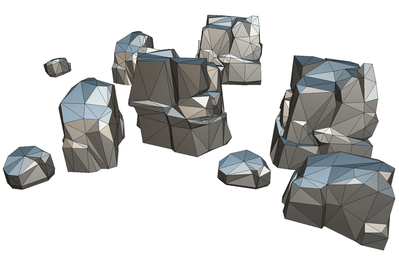 Low Poly Rock Formation 03
