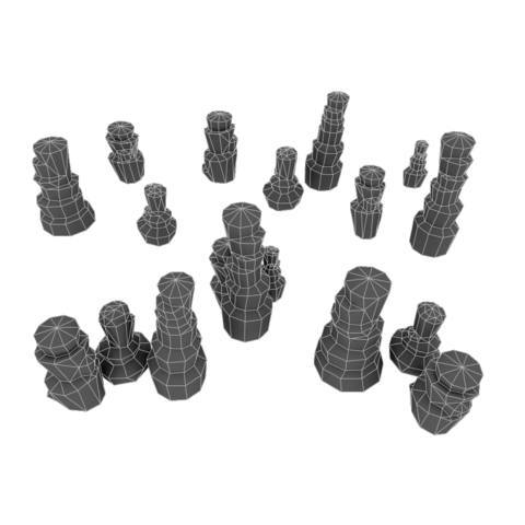 Props - Low Poly Rock Formation Bundle
