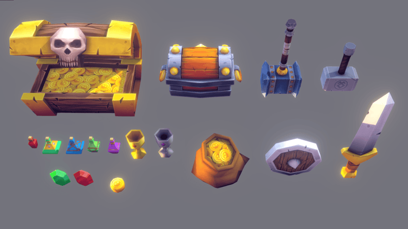 Props - Medieval Loot Pack Vol.2 - Polygrade