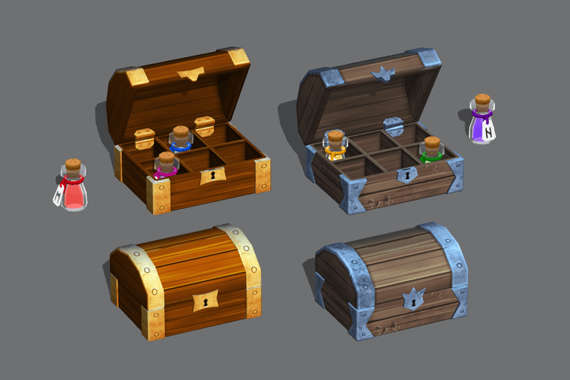 Props - Potion Emporium - Low Poly Hand Painted
