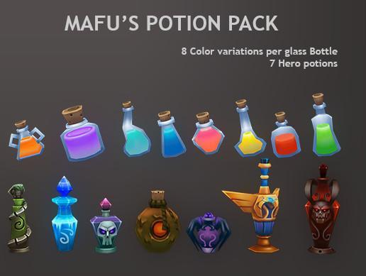 Props - Potion Pack - Mafubash
