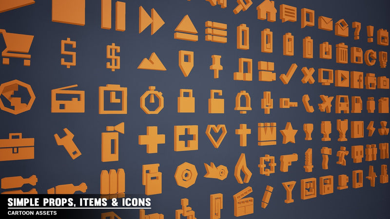 Props - Simple Items - Cartoon Assets - Synty