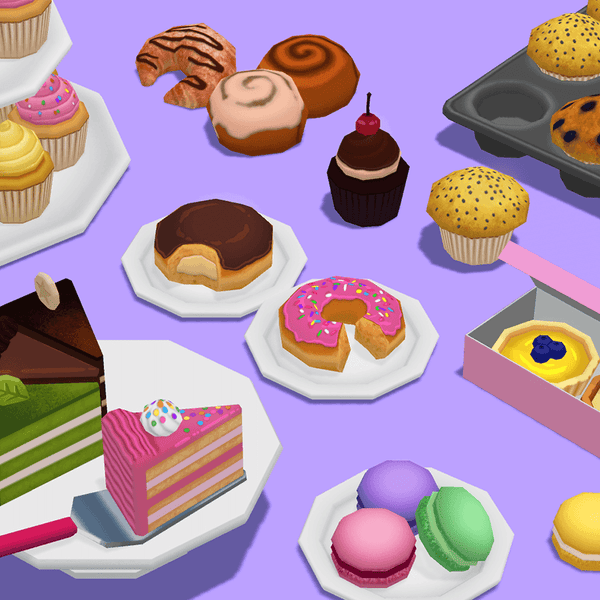 Props - Tasty Pastry - Low Poly Hand Painted