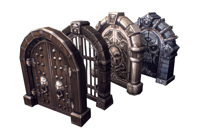 Props - Wooden & Stone Dungeon Doors