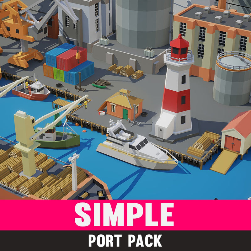 Simple Port - Cartoon Assets - Synty