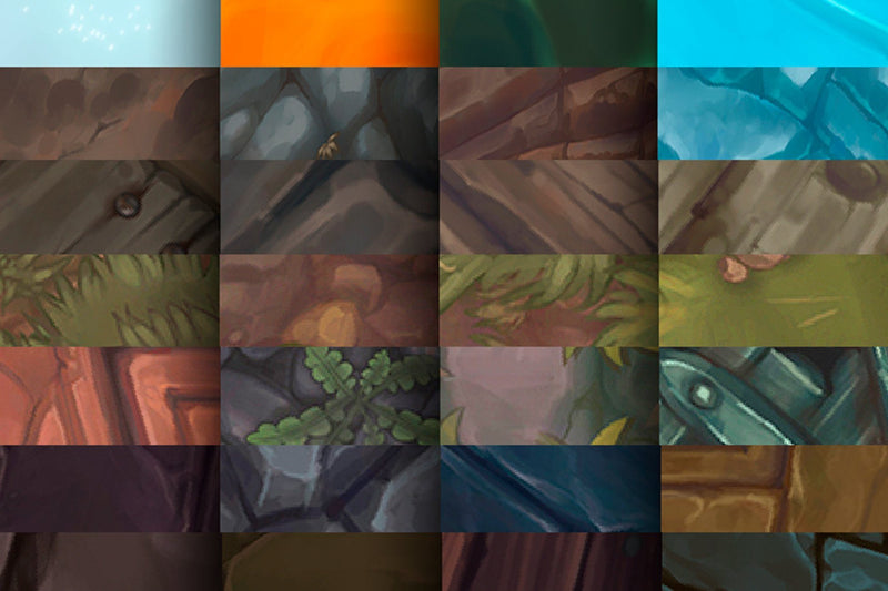 100+ Hand Painted Textures Mega Bundle