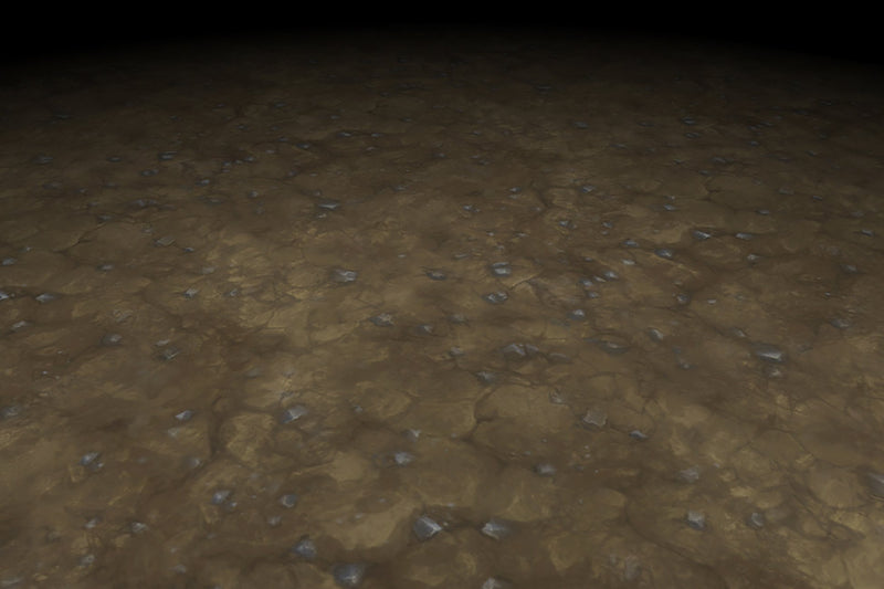 Cracked Earth Brown Dirt Floor Hand Painted Texture v1