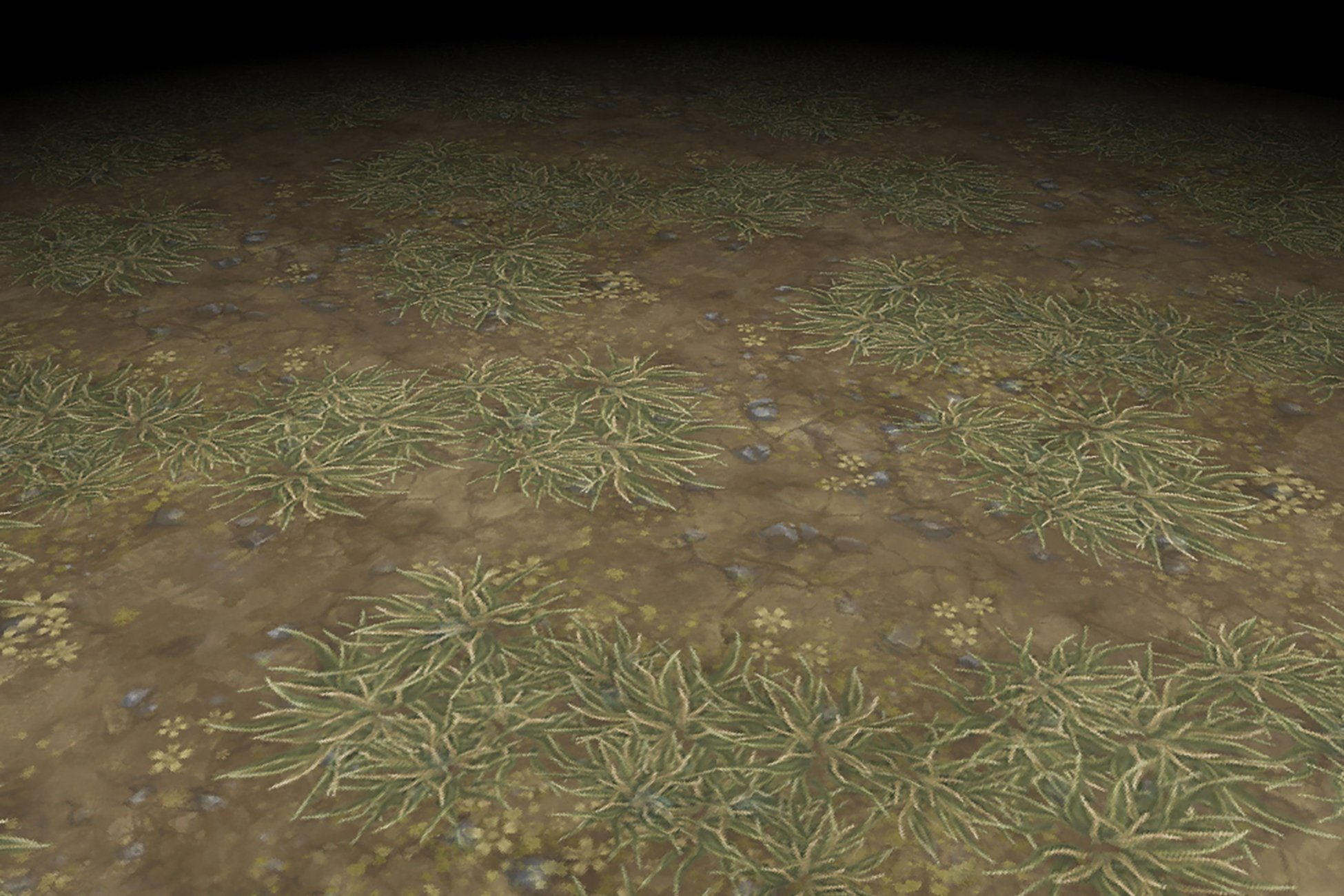 Grass Brown Dirt Ground Hand Painted Texture v1 Bitgem