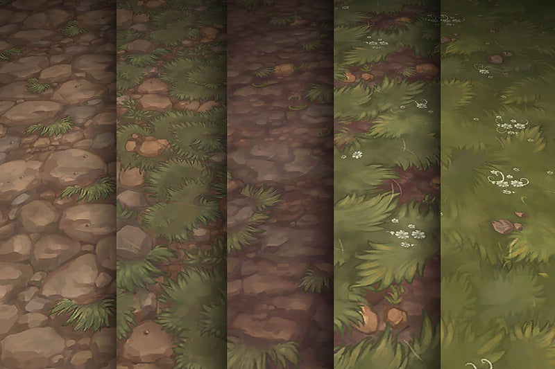 Grass Dirt - Hand Painted Texture Pack 13